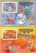Andorra Viguerie Andorre**LUXE 1998 Bloc Feuillet 55 Et 56 La Paire, Droit De L'homme - Timbres