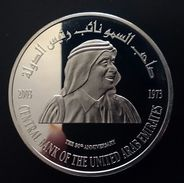 """United Arab Emirates 50 DIRHAMS 2003 Silver Proof """"U.A.E. Central Bank, 30th Anniversary"""" (free Shipping Via Registered) - Emirats Arabes Unis"""