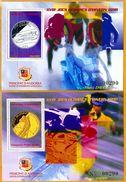 Andorra Viguerie Andorre**LUXE 1997 Bloc Feuillet 49 Et 50 La Paire, J.O. D'hiver - Viguerie Episcopale