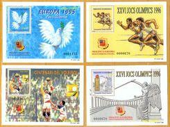 Andorra Viguerie Andorre**LUXE 1995 1996 Bloc Feuillet 38 à 41 Série 4 BF, Europa Et Sport - Timbres