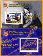 Andorra Viguerie Andorre**LUXE 1994 Bloc Feuillet 36 Et 37 La Paire, Europa - Stamps