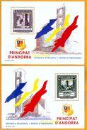 Andorra Viguerie Andorre**LUXE 1992 Bloc Feuillet 26 Et 27 La Paire, Timbres Anciens - Viguerie Episcopale