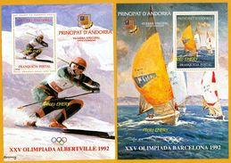 Andorra Viguerie Andorre**LUXE 1992 Bloc Feuillet 22 Et 23 La Paire, JO Albertville Et Barcelone - Viguerie Episcopale