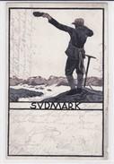 Bergsteiger. 1910. Steindruck - Alpinismus, Bergsteigen