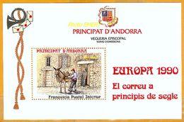Andorra Viguerie Andorre**LUXE 1990 Bloc Feuillet 19 Europa - Stamps