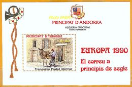 Andorra Viguerie Andorre**LUXE 1990 Bloc Feuillet 19 Europa - Viguerie Episcopale