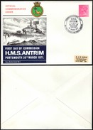 GB - Commemorative Cover, COMMISSIONING DAY, H.M.S. ANTRIM - BRITISH FORCES 1148 POSTAL SERVICE, 30 March 1971. - Storia Postale