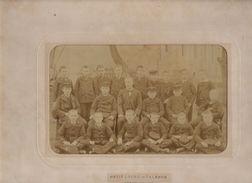 BORDEAUX 1892 PETIT LYCEE DE TALENCE UNE CLASSE PHOTO SUR CARTON - Personnes Anonymes