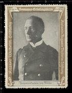 German Poster Stamp, Reklamemarke, Seemanns-Erholungsheim, Kaiser Wilhelm Stiftung, Portret, Matrose, Sailor - Cinderellas