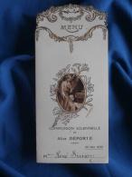 Lot De 2 Menus Déjeuner Et Diner  Communion Solennelle 22 Mai 1932 Alice Déporté à Mr Et Mme Simon - L334 - Menus