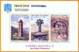Andorra Viguerie Andorre**LUXE 1987 Bloc Feuillet 14 Noêl - Stamps