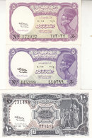 EGYPT 5 10 PIASTERS 1958 P-176c 177c SIG/hassan Salah Water Mrk LETTERS UNC */* - Egypte