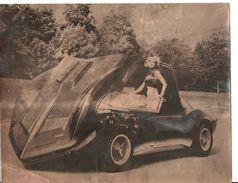 PHOTO 1965 Originale Unique - Une Automobile MAKO SHARK Concept Car CHEVROLET Corvette ? VENTE DIRECTE - Coches