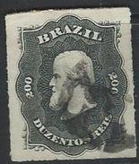 Brazil  1877   Sc#66   200r    Black  Used   2016 Scott Value $9.25 - Brazil