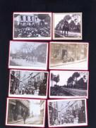 TOUCY DANS LA 89 TRES RARE COFFRET DE 29 PETITES PHOTOS AVANT 1900 CAVALCADES / MAGASINS / MILITAIRES ETC - Albums & Collections