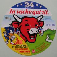 Etiquette Fromage Fondu - Vache Qui Rit - Bel 24 Portions Pub SONIC Et Grandes Inventions   A Voir ! - Fromage