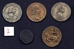 LOT 5 COPIES- MONNAIES DE FRANCE ANCIENNES ORIGINALES- DIFFÉRENTES- - Monnaies