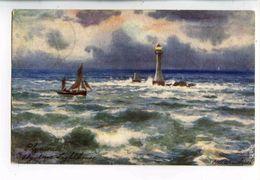 C 19954  -  Plymouth  -  Eddystone Lighthouse    -   Tuck - Wimbush