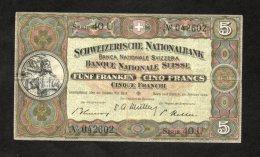 Banconota Svizzera 5 Francs 20/1/1949 - Zwitserland