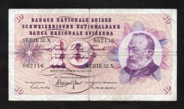Banconota Svizzera 10 Francs 15/5/1968 - Switzerland