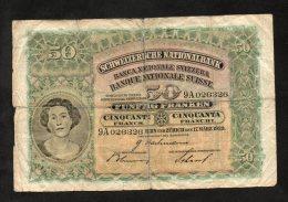 Banconota Svizzera 50 Francs 17/3/1939 - Switzerland