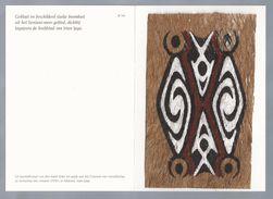 Papoeakunst Op Geklopte Boomschors - Ornament Motief - Irian Jaya - New Guinea. Nieuw Guinea - Indonesië. 2 Scans - Aziatische Kunst