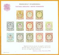 Andorra Viguerie Andorre**LUXE 1978 Bloc Feuillet 1 Essai Douchet - Stamps