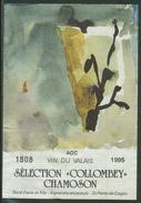 """Rare // Etiquette // Sélection """"Collombey"""" Chamoson, René Favre Et Fils,St.-Pierre-de-Clages, Valais, Suisse - Etiquettes"""