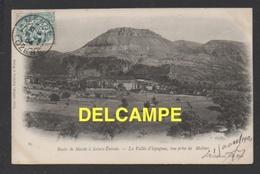 DF / 48 LOZERE / ROUTE DE MENDE À SAINTE-ENIMIE / LA VALLÉE D' ISPAGNAC, VUE PRISE DE MOLINES / CIRCULÉE EN 1904 - France