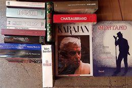 Lot De 13 Biographies Différentes, Histoire, Auteurs Classiques, Musique.... - Lots De Plusieurs Livres