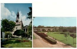 """31 - TOULOUSE. """" La Prairie Des Filtres Et Le Pont """" & """" Square Charles De Gaulle """" . 2 Carte Postales - Réf. N°17997 - - Toulouse"""