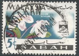 Sabah (Malaysia). 1965-68 Orchids. 5c Used. SG 426 - Malaysia (1964-...)