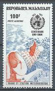 Madagascar Poste Aérienne YT N°129 Organisation Météorologique Mondiale Neuf ** - Madagascar (1960-...)