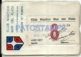 80577 ARGENTINA MAR DEL PLATA CLUB NAUTICO ESPIGON C PUERTO AÑO 1975 CARNET NO POSTCARD - Otros