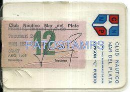 80578 ARGENTINA MAR DEL PLATA CLUB NAUTICO ESPIGON C PUERTO AÑO 1975 CARNET NO POSTCARD - Other