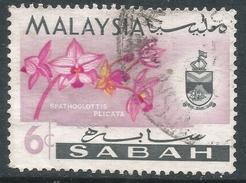 Sabah (Malaysia). 1965-68 Orchids. 6c Used. SG 427 - Malaysia (1964-...)