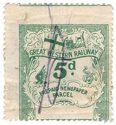 (I.B) Great Western Railway : Newspaper Parcel 5d - 1840-1901 (Victoria)