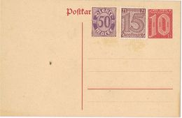26124. Entero Postal ALEMANIA Reich, Service, Dientsmarke Postkarte - Oficial