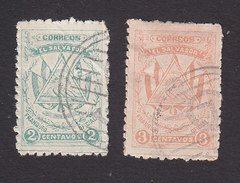 El Salvador, Scott #O321-O322, Used, Arms, Issued 1914 - El Salvador