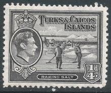 Turks & Caicos Islands. 1938-45 KGVI. ¼d MH. SG 194 - Turks And Caicos