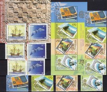 EUROPA MACEDONIA 370/3,ZD,Block 13+CROATIA 734/5,ZD+Bl.27 ** 216€ Hojitas Blocs Art S/s Ship Se-tenant Bf CEPT 2006 - Gezamelijke Uitgaven