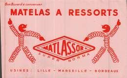 Buvard  -         Matelas à Ressortss  MATLASSOR - Buvards, Protège-cahiers Illustrés