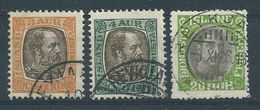 Iceland, 3 Official Stamps - Oblitérés