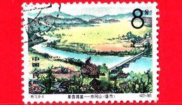 CINA - Usato - 1965 - Panorama - Paesaggi - Fiume E Ponte - Tjinglingschan Mountains - 8 - 1949 - ... Repubblica Popolare