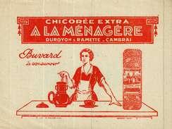 Buvard  -      Chicorée A LA MENAGERE  Duroyon & Ramette   CAMBRAI - Buvards, Protège-cahiers Illustrés