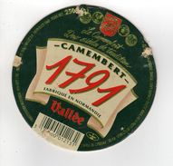 ETIQUETTE DE FROMAGE CAMEMBERT 1791 FABRIQUE EN NORMANDIE - Cheese