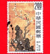 TAIWAN  - Repubblica Di Cina - Usato - 1977 - Antichi Dipinti Di Fiori E Uccelli - 2.00 - 1945-... Republik China