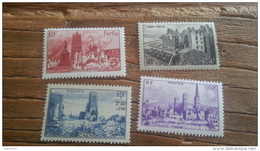 LOT 238437 TIMBRE DE FRANCE NEUF**  N°744 A 747 LUXE FEUILLE - Unused Stamps