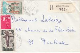 Lettre Recommandée  De NEGREPELISSE (82)  Pour TOULOUSE - Marcofilia (sobres)