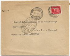 LUOGOTENENZA 5 L. ISOLATO Su LETTERA PER ESTERO (Svizzera - Croce Rossa) Dal Consolato Di Svezia Di Genova 31/08/1945. - 5. 1944-46 Lieutenance & Umberto II